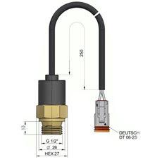 """Bild von Thermostat G1/2"""" 50° mit Kabel"""