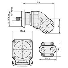 Bild von Motor SCM025W-N-SB4-B13-S3G-100