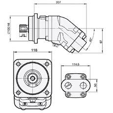 Bild von Motor SCM-034W-N-I42-W30-S3G-100