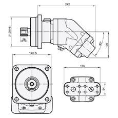 Bild von Motor SCM-047W-N-I43-W35-S2M-100