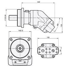 Bild von Motor SCM-047W-H-I43-K30-S2M-100