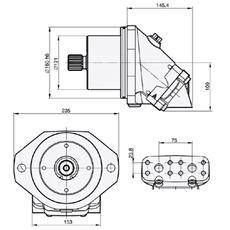 Bild von Motor SCM-047W-V-M22-W35-V2M-100