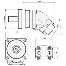 Bild von Motor SCM-108W-N-I45-K45-S1M-100
