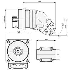 Bild von Motor SCM-108W-N-I45-W40-R1M-100