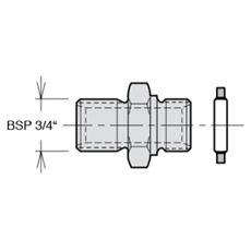 """Bild von Nippelsatz BSP 3/4"""" für VP1-045/-075"""