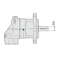 Bild von Axialkolbenmotor F11-005-MB-CV-K-000