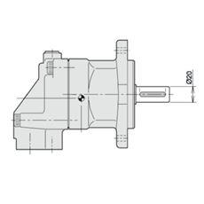 Bild von Axialkolbenmotor F11-010-MB-CN-K-000