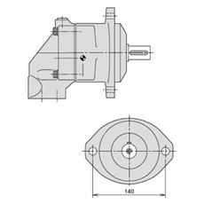 Bild von Axialkolbenmotor F11-019-MB-CN-K-000