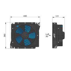 Bild von Öl Luft-Kühler ASA 0115 12V DC
