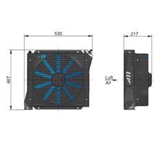 Bild von Öl Luft-Kühler ASA 0176 12V DC