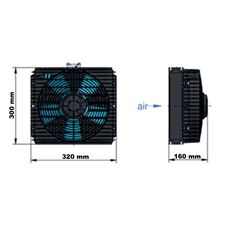Bild von Oel-Luftkühler ASA TT 07 12V DC