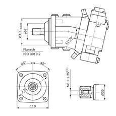 Bild von Axialkolbenpumpe A7VO28HD1/63L-NZB01