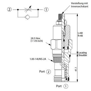 Bild von Drosselrückschlagventil NC-5A-21-BC-L