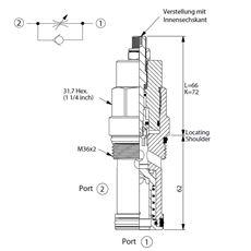 Bild von Drosselrückschlagventil NC-16A-21-BA-L
