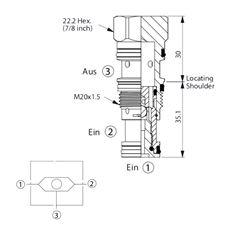 Bild von Wechselventil LS-11A-30-N-N, Signal A. 3
