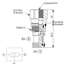 Bild von Wechselventil LS-13A-20-N-G, Signal ext.