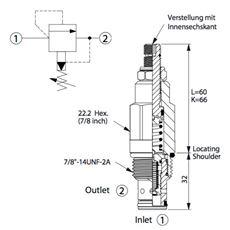 Bild von Druckbegr.Ventil RP-10W-20-A-L, 95 lpm