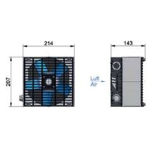 Bild von Öl Luft-Kühler ASA0043 GI02-230/400 V AC